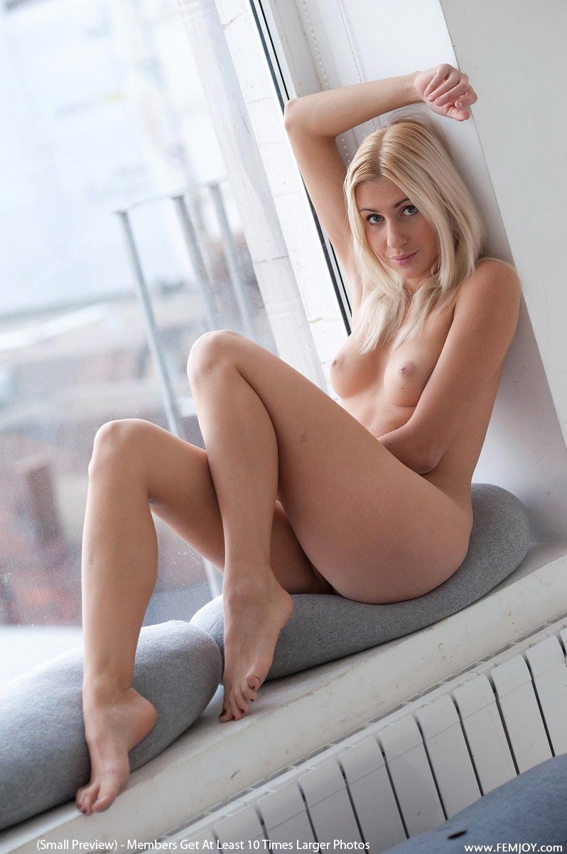 Hot blonde ass on couch