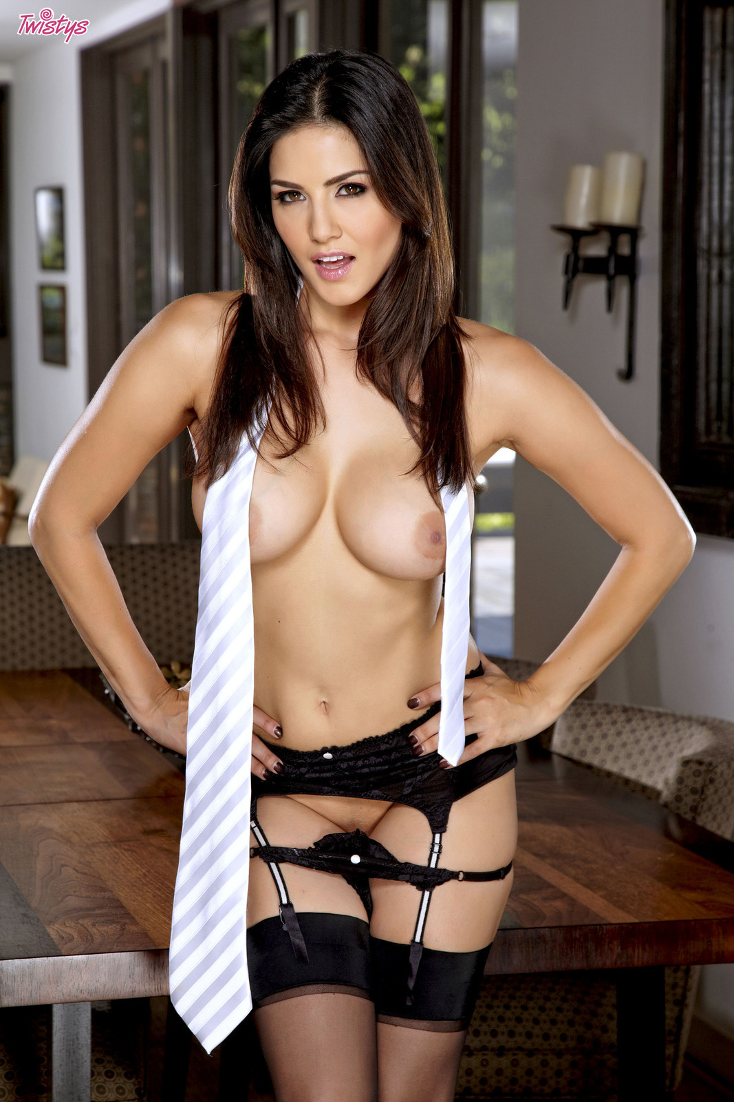 Those on! Sunny Leone nude white shirt can look