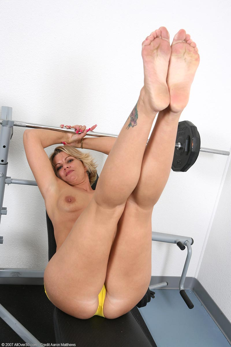 Blonde milf working out sorry, that