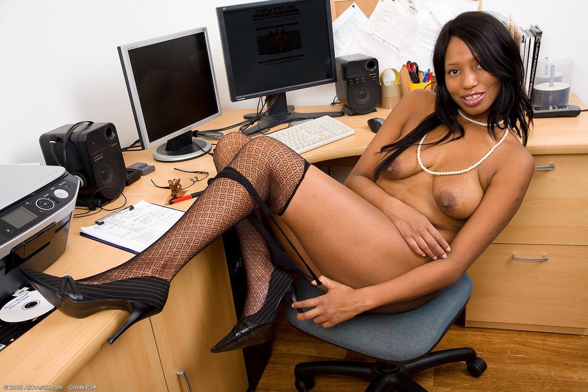 Ebony milf secretary share