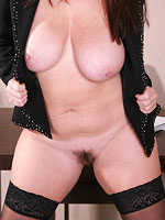 Big titted milf having fun in her office from All Over 30