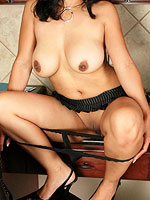 hot horny milf stripping naked in the kitchen from All Over 30