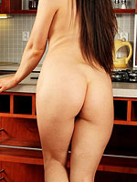 horny amateur housewife in the kitchen from All Over 30