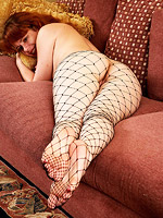Horny amateur wife in fishnet from All Over 30