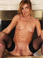 Horny blonde mature in stockings from All Over 30