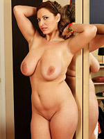 Hot horny milf and her amazing natural tits from All Over 30