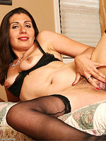 Horny all natural milf shows huge round ass in stockings from All Over 30
