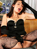 hot horny milf in sexy black stockings from All Over 30