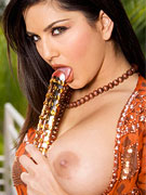 Sexy Sunny Leone Toying Pussy Outside from Twisty's